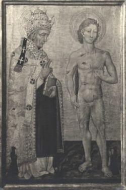 FABIANO E SEBASTIANO, Giovanni di Paolo, dipinto su tavola, XV sec.