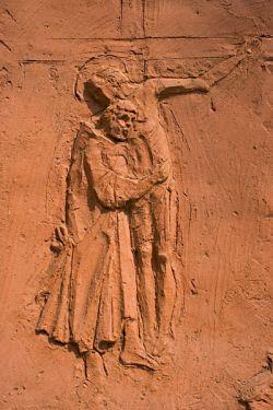 Déposition, détail d'un bas-relief en terre cuite