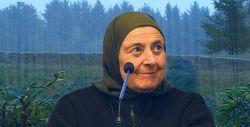 Madre Agnese durante la sua visita a Bose nel 2011.