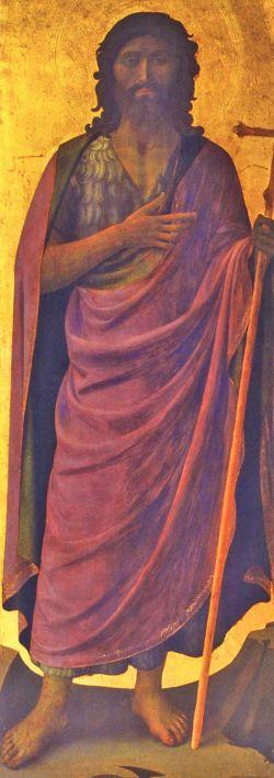 Beato Angelico, João Batista, tabernáculo dos linaioli, 1433 cerca, Florença