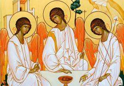 Os ícones de Bose – Trindade – ícone em estilo russo