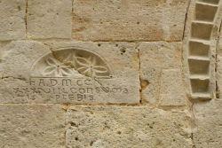 A.D. MCCXXXVIII CONSUMATIO PLEBIS, (1238, compimento della pieve); facciata, a sinistra del portone d'ingresso