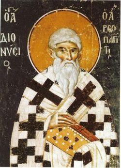 DIONIGI l'AEROPAGITA, icona del XIV sec., Monte Athos