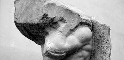 Michelangelo, Atlante, marmo, 277 cm altezza, 1530-34.