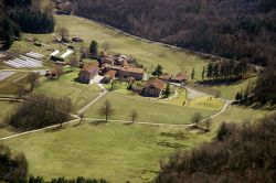 the community buildings, aerial view