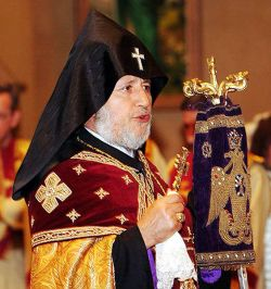 His holiness Karekin II, supreme patriarch and catholicos of all Armenians