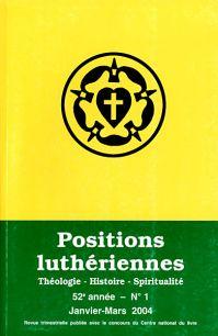 Positions luthériennes 16, rue Chauchat - 75009 Paris