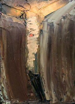 WILLIAM CONGDON, Crocifisso n°14 - olio su faesite - 1964