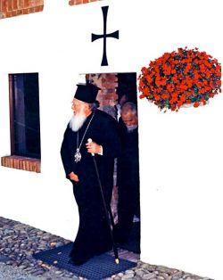 Bartholomeos I, arcivescovo di Costantinopoli e Patriarca ecumenico a Bose, maggio 1997