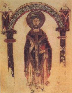 ILARIO DI POITIERS, miniatura dell'XI sec.